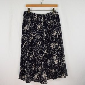 Lauren Ralph Lauren 100% silk skirt.